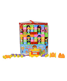 Planet Of Toys Educational Puzzle Blocks Set Of 143 Pieces - Multicolor