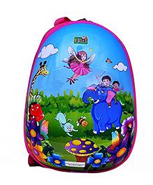Playhood School Bag Printed Blue - 11 Inch