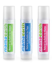 Mamaearth Natural Lip Balm For Baby Mama & Papa - Set Of 3