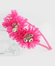 Tia Hair Accessories Flower Frilled Hair Band - Pink - 1798865