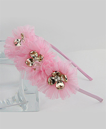 Tia Hair Accessories Flower Frilled Hair Band - Pink