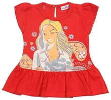 Isabelle - Short Sleeves Printed Frill Frock