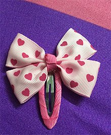 Angel Closet Hair Clip With Bow - Pink