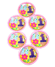 Funcart Disposable Paper Plates Birthday Girl Theme Multi Color Pack Of 6 - 22.8 Cm Each