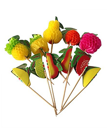 Funcart Fruits Topper Toothpicks Multi Color - Pack Of 30