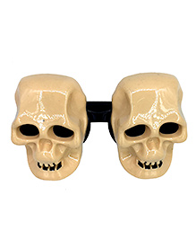 Funcart Skull Shaped Eye Glasses - Cream Black