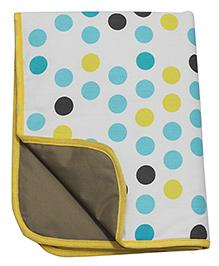 Kadambaby Diaper Mat Polka Dots Print - Multi Color