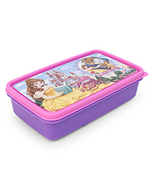 Disney Princess Lunch Box With 2 In 1 Fork & Spoon - Pink Purple - 1805943