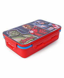 Marvel Avengers Lunch Box With 2-in-1 Spoon & Fork - Red Blue