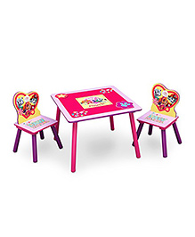 Paw Patrol Table & Chair Set With Storage - Pink