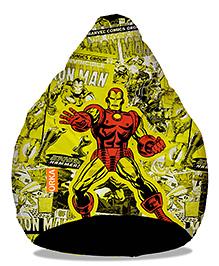Orka Iron Man Digital Printed Bean Bag Cover Yellow - XL