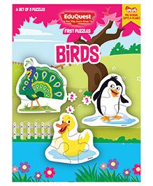 EduQuest Birds Jigsaw Puzzle Pack Of 3 - Multi Color