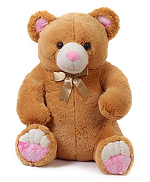 Liviya Teddy Bear Soft Toy With Bow Tie Brown - Height 68 Cm