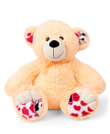 Liviya Teddy Bear Printed Paw Soft Toy Cream - Height 43 Cm
