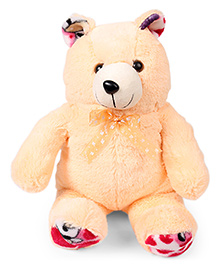 Liviya Teddy Bear Printed Bow Soft Toy Cream - Height 51 Cm