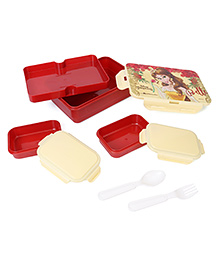 Disney Princess Belle Print Lunch Box - Red Cream