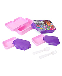 Dora Printed Lunch Box - Pink Purple