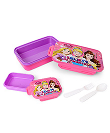 Disney Princess Printed Lunch Box - Pink Purple