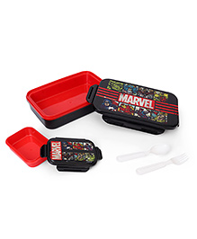 Marvel Avengers Printed Lunch Box - Black Red