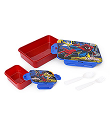 Marvel Spider Man Printed Lunch Box - Red Blue