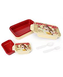 Disney Princess Belle Print Lunch Box - Cream Red