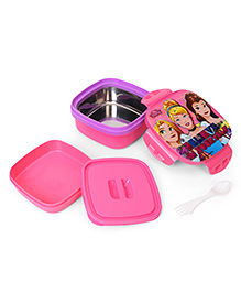 Disney Princess Stainless Steel Square Lunch Box - Pink