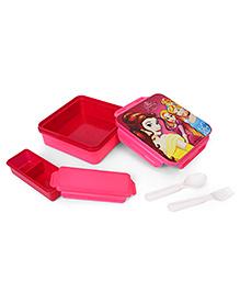 Disney Princess Square Lunch Box - Dark Pink