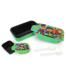 Ben 10 Insulated Lunch Box With Small Box - Black & Black