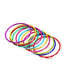 BownBee Set Of 12 Metal Bangle - Multicolor