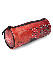 Disney Minnie Mouse Round Pencil Pouch - Red Black