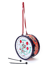 Luvely Musical Drum Toy - Navy & Red
