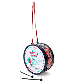 Luvely Musical Drum Toy Happy Birthday Print - Navy Blue