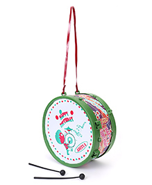 Luvely Musical Drum Toy - Green & Red