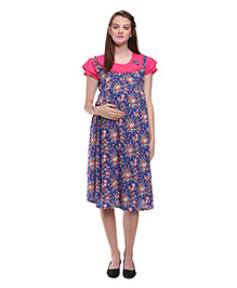 Mamma's Maternity Printed Maternity Dress - Pink