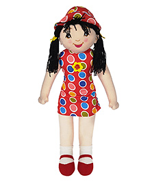 Ultra Candy Doll Soft Toy Polka Dot Print Red - 27 Inches