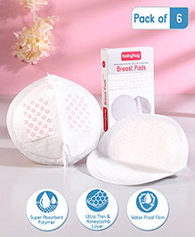 Babyhug 3D Contoured Disposable Breast Pads - Pack Of 6