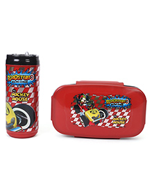 Disney Mickey Mouse Lunch Box With Bottle - Black & Red