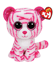 Jungly World Asia Tiger Soft Toy Pink White - Height 23 Cm
