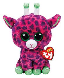 Jungly World Gilbert Giraffe Soft Toy Dark Pink - Height 23 Cm