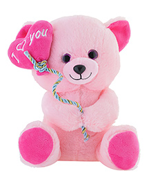 Jungly World Teddy Bear Soft Toy Pink - Height 25 Cm