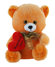 Jungly World Teddy Bear Soft Toy White Brown - Height 25 Cm