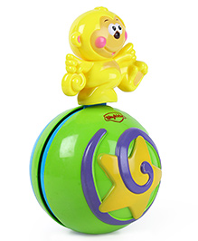 Mitashi Skykidz Teddy Roly Poly Musical Ball - Yellow Green