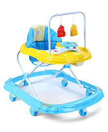 Baby Musical Walker With Play Tray - Blue & Yellow