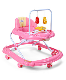 Baby Musical Walker With Play Tray - Pink
