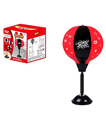 Emob Desktop Boxing Punching Ball Bag With Stand - Red & Black
