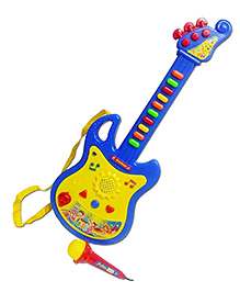 Emob Musical Guitar With Microphone - Red & Yellow