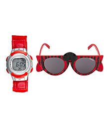 Fantasy World Watch & Sunglasses Combo - Red