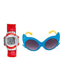 Fantasy World Watch & Sunglasses Combo - Red & Blue