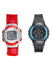 Fantasy World Sports Watch Combo - Red & Black