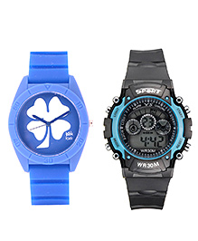 Fantasy World Sport Watch Combo - Blue & Grey
